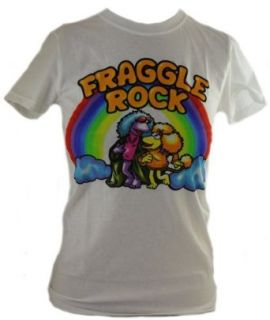 Fraggle Rock Girls T Shirt   Airbrush Style Rainbow Image on White: Clothing