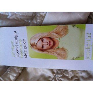 """hairdo from Jessica Simpson and Ken Paves 19"""" Vibralite Synthetic Clip In Extension, Layered, Straight, Buttered Toast  Hair Extensions  Beauty"""