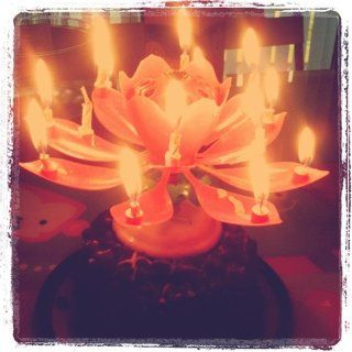 Happy Birthday Candle   Color may vary   Lotus Birthday Candle