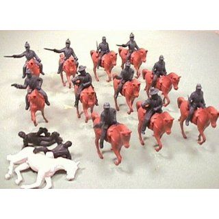 Civil War Union Cavalry: 25 Piece Set of 1:32 Soldier Figures and Horses: Toys & Games