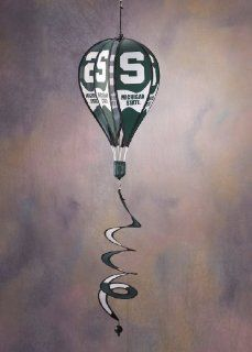 Michigan State Spartans Hot Air Balloon Spinner Michigan State Spartans Hot Air Balloon Spinner : Sports Fan Wind Sculptures : Sports & Outdoors