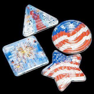 Patriotic Maze Puzzles   12 per pack: Toys & Games