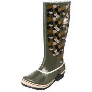 Sorel Women's Sorellington Graphic NL1621 Rain Boot,Mud/Crushed Berry,11 M US: Shoes