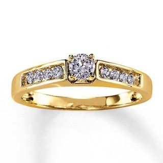 Kay Jewelers Previously Owned Ring 1/3 ct tw Diamonds 14K Yellow Gold: Jewelry Products: Jewelry