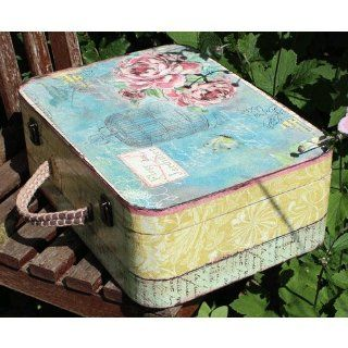 Lindsay Interiors Vintage Style Floral Suitcase, Wedding Memory Box or Prop Perhaps?   Decorative Storage