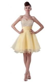 Emma Y Charming Sweetheart Neckline Organza Short Party Dresses for Teenagers US Size 26W Daffodil at  Women�s Clothing store
