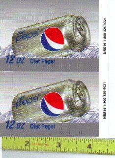 Large Square or Marketing Vendor (Coke Machine) Size Diet Pepsi CAN Soda Vending Machine Flavor Strip, Label Card, Not a Sticker