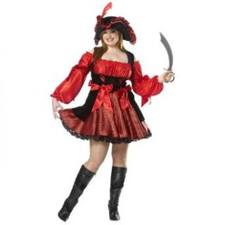 Pirate Wench Adult Plus Size Halloween Costume Size 20 22 XX Large (XXL): Clothing