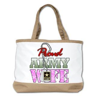 Shoulder Bag Purse (2 Sided) Tan Proud Army Wife: Everything Else