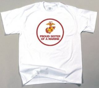 Proud Sister of a Marine T Shirt: Clothing