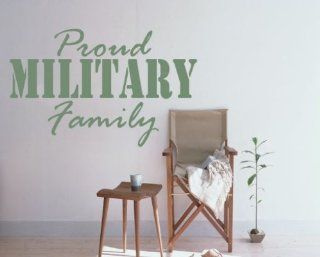 Proud Military Family Patriotic Vinyl Wall Decal Sticker Mural Quotes Words Hd107   Wall Decor Stickers
