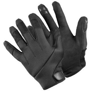 One Pair of TurtleSkin Alpha Gloves (Black / Size: Large)   palm and fingertips offer cut and needle puncture resistance, while the back of the glove provides slash protection: Work Gloves: Industrial & Scientific