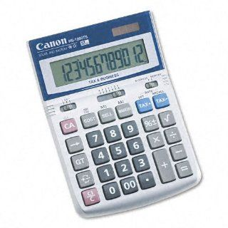 Canon Products   Canon   HS 1200TS Compact Desktop Calculator, 12 Digit LCD   Sold As 1 Each   Upright angled display provides maximum viewing comfort of the large easy to read numbers.   Display indicates the operation symbol during a calculation and equa