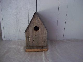 Amish Country Collectible A frame Barnwood Birdhouse. Old Barn Wood and Tin Provides a Heavenly Home for Your Feathered Friends, While Enhancing Your Country Garden Decor. This Country Birdhouse Makes a Unique Gift Idea for a Bird Lover. : Home Decor Produ