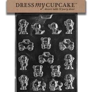 Dress My Cupcake DMCK001 Chocolate Candy Mold, Kids Assortment Candy Making Molds Kitchen & Dining
