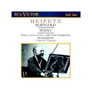 Korngold Violin Concerto / Rozsa Violin Concerto; Tema con Variazioni / Waxman Carmen Fantasy Music