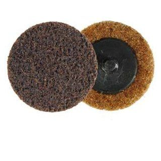 """Roloc 3M Polishing Disc 2"""" (Brown Coarse) TR Use: Type R 3M Scotch Brite Nonwoven surface conditioning quick change discs are excellent for deburring, surface prep and polishing a wide variety metals along with other materials.They quickly attach to 2"""