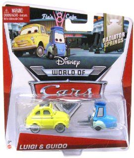 Disney/Pixar Cars World of Cars Radiator Springs Luigi & Guido #3,4/15 155 Scale Toys & Games