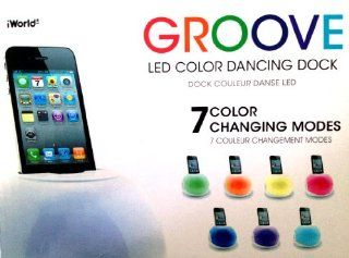iWorld Groove Led Color Dancing Dock for Ipod, Iphone, Droid Most Smartphones : MP3 Players & Accessories