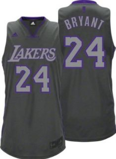 NBA Men's Los Angeles Lakers Kobe Bryant Graystone Swingman Jersey (Grey, Small)  Sports Fan Jerseys  Clothing