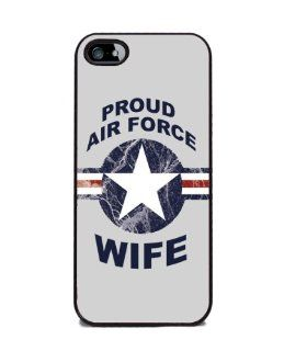 Proud Air Force Wife   iPhone 5 or 5s Cover, Cell Phone Case   Black: Cell Phones & Accessories