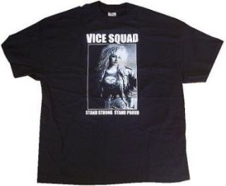 VICE SQUAD   Stand Strong Stand Proud   Black T shirt   size XL Novelty T Shirts Clothing