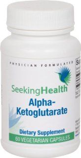 Alpha Ketoglutarate  Provides 300 mg of Pure Alpha Ketoglutarate Acid (AKG)  60 Easy To Swallow Vegetarian Capsules  Free of Common Allergens and Magnesium Stearate  Seeking Health: Health & Personal Care