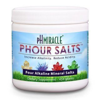 Young Phorever Phour Salts Powder By Ph Miracle Living and Dr. Robert O Young Provides Four Salt Minerals Sodium Bicarbonate, Magnesium Chloride, Potassium Bicarbonate, and Calcium Chloride Health & Personal Care