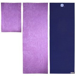 "Aurorae's Slip Free Yoga Mat Towel. Great for Hot/Active Yoga. Eco Safe, Hygienic, Super Absorbent Multi purpose Lush Micro fiber material. Sport Size 30"" x 20"", Long Mat Size 72""x24"", 9 New Beautiful Colors that will Match/Coordina"