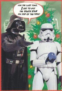 "Greeting Card Christmas Star Wars ""For the Last Time, I Get to Put the Death Star on Top of the Tree"": Health & Personal Care"