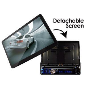 Pyle PLD10BT 10.1 Inch Motorized Touchscreen Bluetooth Receiver Multimedia System with Built In DVD Player : Vehicle Dvd Players : Car Electronics