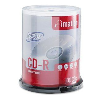 imation�   CD R Discs, 700MB/80min, 52x, Spindle, Branded, Silver, 100/Pk   Sold As 1 Pack   Store data quickly and reliably.: Electronics