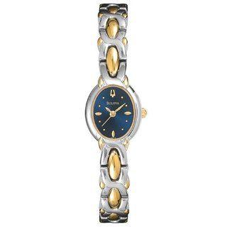 Bulova Women's 98T72 Two Tone Blue Dial Watch Bulova Watches