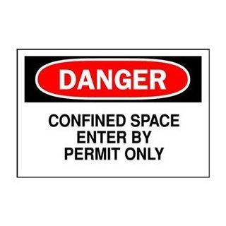 Danger Sign, 7 x 10In, R and BK/WHT, ENG: Industrial Warning Signs: Industrial & Scientific