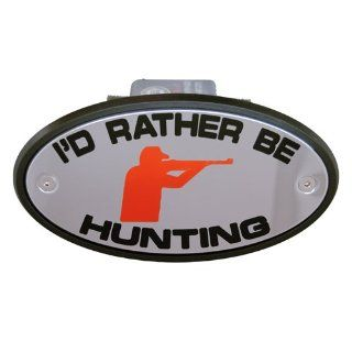 I'd Rather be Hunting Receiver Hitch Cover High End: Automotive