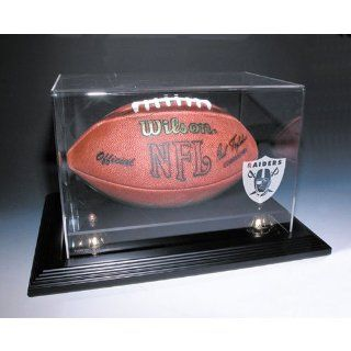 "Oakland Raiders Nfl Zenith"" Football Display Case (Mahogany)"" : Sports Related Display Cases : Sports & Outdoors"