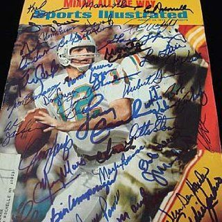 1973 Miami Dolphins Sports Illustrated Signed Magazine : Sports Related Collectibles : Sports & Outdoors