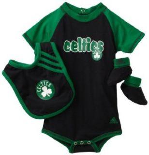 NBA Infant Boston Celtics Boys Bib & Bootie Set   R228Syce (Multi, 24 Months)  Sports Fan Apparel  Clothing