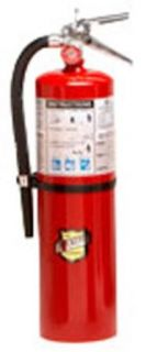 "Buckeye 11340 ABC Multipurpose Dry Chemical Hand Held Fire Extinguisher with Aluminum Valve and Wall Hook, 10 lbs Agent Capacity, 5 1/8"" Diameter x 7 3/4"" Width x 21"" Height: Science Lab Emergency Response Equipment: Industrial & Scienti"