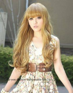 X&Y ANGEL  New Medium Full Natural Wavy Kanekalon Heat Resistant Hair Wig Blonde 8038C : Hair Replacement Wigs : Beauty