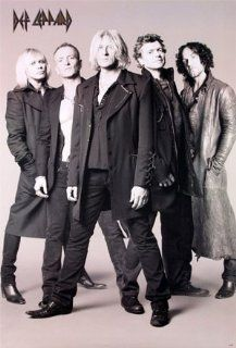 Def Leppard group portrait POSTER 23.5 x 34 black & white recent (poster sent from USA in PVC pipe) : Prints : Everything Else