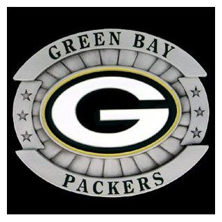 Green Bay Packers Oversized Belt Buckle   NFL Football Fan Shop Sports Team Merchandise  Sports Related Merchandise  Sports & Outdoors