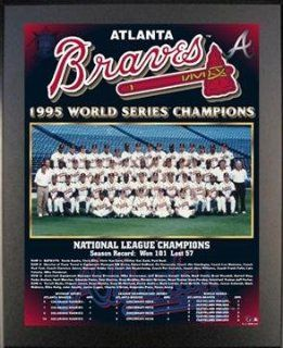Black 13x16 1995 Atlanta Braves World Series Championship Team Photo Plaque : Sports Related Merchandise : Sports & Outdoors