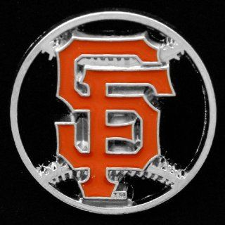MLB San Francisco Giants Team Logo Cut Out Baseball Pin : Sports Related Pins : Sports & Outdoors