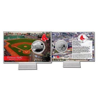 Boston Red Sox Official MLB Fenway Park Silver Plate Coin Card by The Highland Mint 687298 : Sports Related Collectible Photomints : Sports & Outdoors