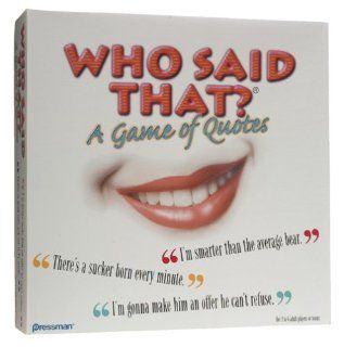 Who Said that? A Game of Quotes Board Game Toys & Games