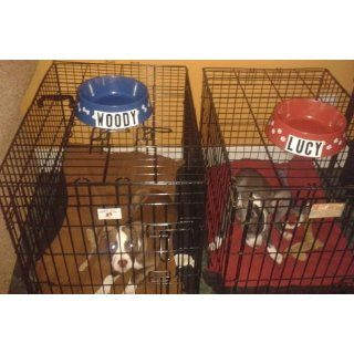 """30"""" 3 Door Pet Folding Cage Dog Crate Kennel w/ABS Tray"""