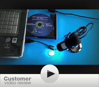 Plugable USB 2.0 Digital Microscope for Windows, Mac, Linux (2MP, 10x 50x Optical Zoom, 200x Digital Magnification): Computers & Accessories