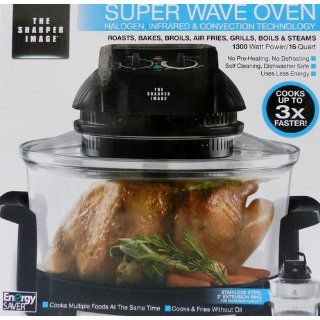 The Sharper Image 8217 Super Wave Oven Halogen, Infrared & Convection Tech 1300watt 16 Quart: Kitchen & Dining