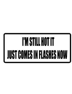 "4"" I'm still hot it just comes in flashes now funny saying Magnet for Auto Car Refrigerator or any metal surface. : Everything Else"